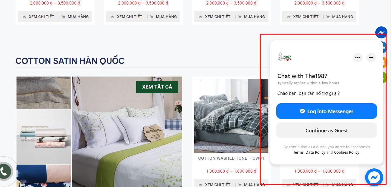 Hướng dẫn cách chèn mã nhúng Chat Facebook Messenger mới nhất